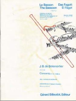 BOISMORTIER - コンチェルトD大作戦バスーンのための26 - 楽譜 - di-arezzo.jp