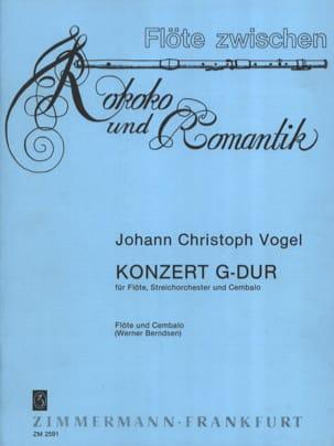 Johann Christoph Vogel - Konzert G-Dur – Flöte Cembalo - Partition - di-arezzo.fr