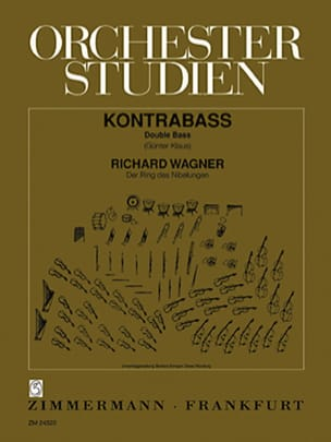 Richard Wagner - Orchesterstudien - Kontrabass - Sheet Music - di-arezzo.co.uk