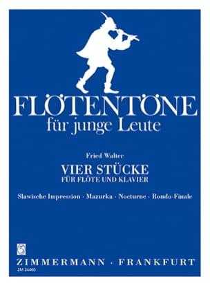Fried Walter - 4 Stücke - Flöte Klavier - Sheet Music - di-arezzo.com