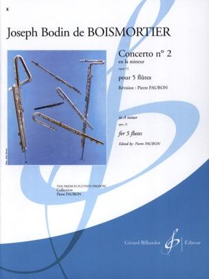 Concerto Op. 15 N° 2 en la Mineur BOISMORTIER Partition laflutedepan