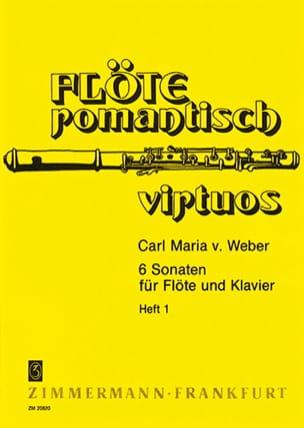 Carl Maria von Weber - 6 Sonaten - Heft 1 - Flöte Klavier - Partitura - di-arezzo.es