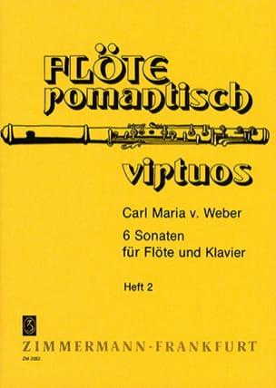 Carl Maria von Weber - 6 Sonaten - Heft 2 - Flöte Klavier - Partitura - di-arezzo.es