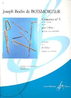 Joseph Bodin de Boismortier - Concerto op. 15 n° 5 en la majeur – 5 Flûtes - Partition - di-arezzo.fr