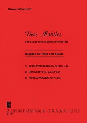 Klaus Wüsthoff - 3 Mobiles – Flöte Klavier - Partition - di-arezzo.fr