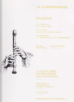 Joseph Bodin De Boismortier - Six Suites - 2 Flutes A Bec Altos Ou Alto-Tenor - Partition - di-arezzo.fr