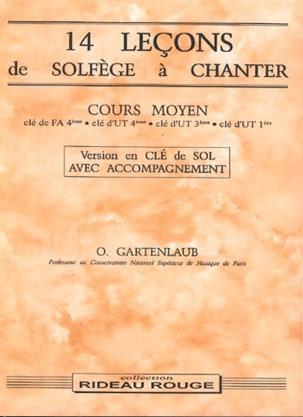 Odette Gartenlaub - 14 Lessons - Middle - Treble clef - with accompaniment - Sheet Music - di-arezzo.com