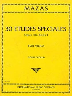MAZAS - 30 Special Studies op. 36 - Book 1 - Viola Pagels - Sheet Music - di-arezzo.co.uk