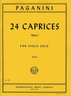 Niccolò Paganini - 24 Caprices Op. 1 - Sheet Music - di-arezzo.co.uk