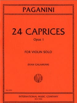 Niccolò Paganini - 24 Caprices op. 1 Galamian - Sheet Music - di-arezzo.co.uk