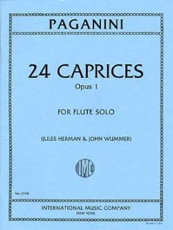 Paganini Niccolò / Herman Jules / Wummer John - 24 Caprices op.1 - Solo Flute - Sheet Music - di-arezzo.co.uk