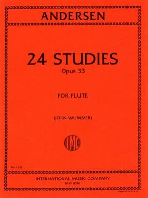 24 Studies op. 33 ANDERSEN Partition Flûte traversière - laflutedepan