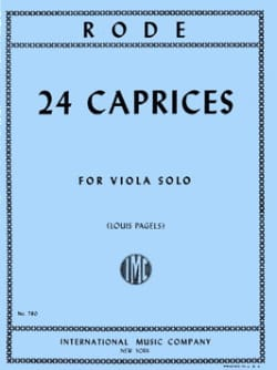 Pierre Rode - 24 Caprices – Viola (Pagels) - Partition - di-arezzo.fr