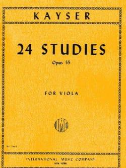 24 Studies Op. 55 - Viola Heinrich Ernst Kayser Partition laflutedepan