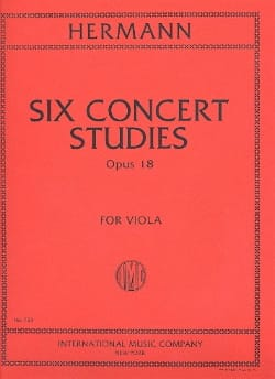 Friedrich Hermann - Six Concert Studies op. 18 for Viola - Partition - di-arezzo.fr