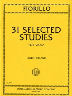Frederigo Fiorillo - 31 Selected Studies - Sheet Music - di-arezzo.com