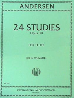 24 Studies op. 30 - ANDERSEN - Partition - laflutedepan.com