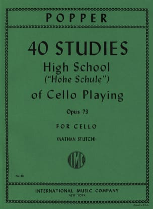 David Popper - 40 Studies - High school of cello playing op. 73 - Sheet Music - di-arezzo.co.uk