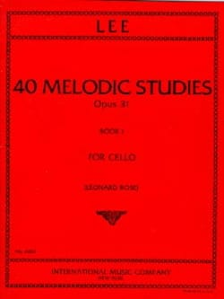 Sebastian Lee - 40 Melodic Studies op. 31 - Volume 1 - Sheet Music - di-arezzo.co.uk