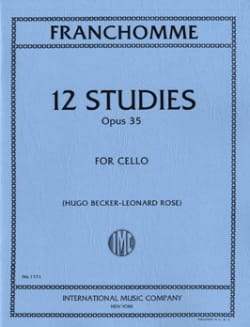 12 Studies op. 35 - Cello Auguste Franchomme Partition laflutedepan