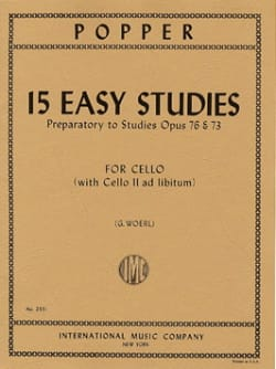 David Popper - 15 Easy Studies - Sheet Music - di-arezzo.co.uk