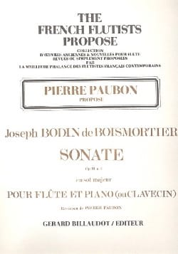 BOISMORTIER - Sonata Op. 91 N ° 3 in G Major - Sheet Music - di-arezzo.com