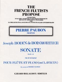 BOISMORTIER - Sonate op. 91 n° 6 - Flûte et piano (ou clavecin) - Partition - di-arezzo.fr