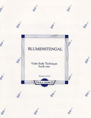 Viola scale technique - Book1 Albrecht Blumenstengel laflutedepan