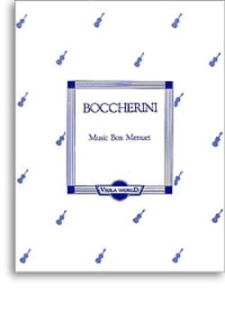 Music Box Menuet BOCCHERINI Partition Alto - laflutedepan