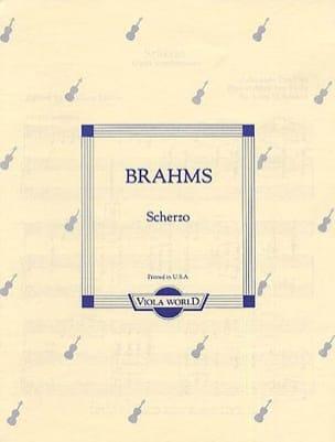 Johannes Brahms - Scherzo op. posth. – Alto - Partition - di-arezzo.fr