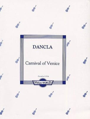 DANCLA - Carnival of Venice - Alto - Sheet Music - di-arezzo.com