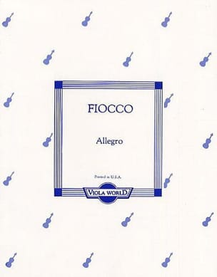 Joseph Hector Fiocco - Allegro - Alto - Sheet Music - di-arezzo.co.uk