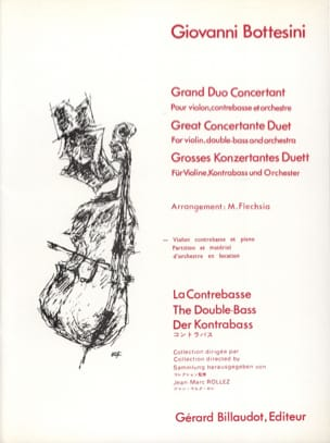 Giovanni Bottesini - Grand duo concertant –violon, contrebasse, piano - Partition - di-arezzo.fr