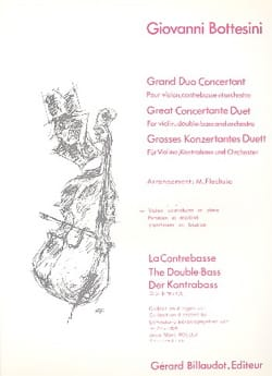Giovanni Bottesini - Grand Duo Concertant - Conducteur - Partition - di-arezzo.fr