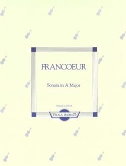 Sonata in A major - Viola François Francoeur Partition laflutedepan