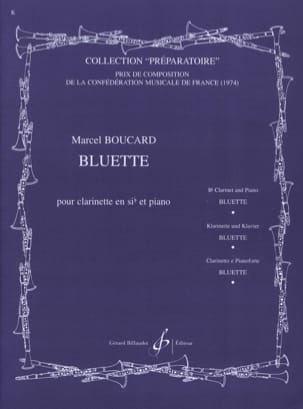 Bluette Marcel Boucard Partition Clarinette - laflutedepan