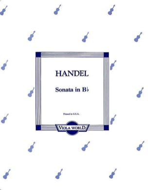 HAENDEL - Sonata in B flat - Viola - Sheet Music - di-arezzo.co.uk