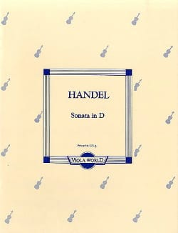Georg Friedrich Haendel - Sonate In D - Alto - Partition - di-arezzo.fr