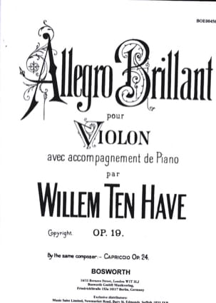 Have Willem Ten - Allegro brillante op. 19 - Partitura - di-arezzo.es