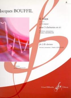 6 Trios Jacques-Jules Bouffil Partition Clarinette - laflutedepan