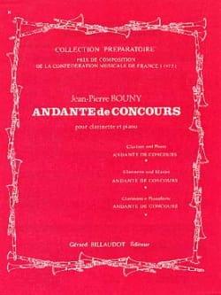 Jean-Pierre Bouny - Andante de concours - Partition - di-arezzo.fr