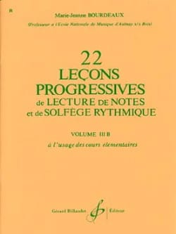 BOURDEAUX - 22 Progressive Lessons Volume 3B - Sheet Music - di-arezzo.co.uk