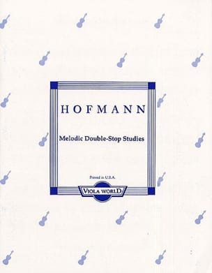 Richard Hofmann - Melodic Double-Stop Studies op. 96 - Viola - Partition - di-arezzo.fr