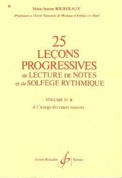 25 Leçons progressives Volume 4B BOURDEAUX Partition laflutedepan