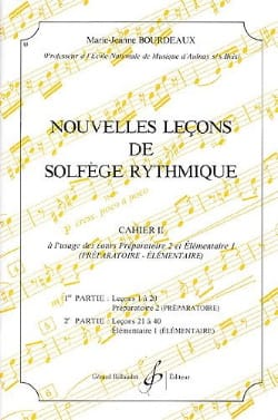 BOURDEAUX - New lessons in rhythmic solfeggio Volume 2 - Sheet Music - di-arezzo.co.uk