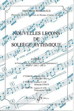 BOURDEAUX - New lessons in rhythmic solfeggio Volume 1 - Sheet Music - di-arezzo.co.uk