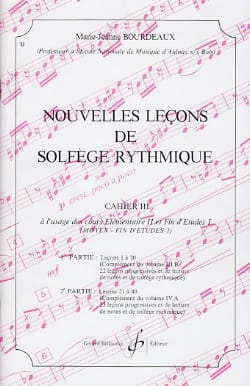 BOURDEAUX - New lessons in rhythmic solfeggio Volume 3 - Sheet Music - di-arezzo.co.uk