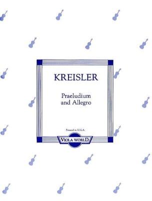 Fritz Kreisler - Präludium und Allegro - Viola - Partitura - di-arezzo.es