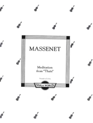 Jules Massenet - Meditation of Thais - Alto - Sheet Music - di-arezzo.co.uk