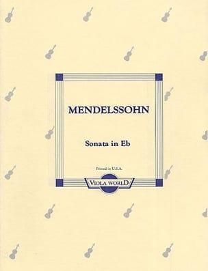 MENDELSSOHN - Sonata in E flat - Viola - Sheet Music - di-arezzo.com